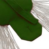 Epauletten silber (ein Paar) mit Fransen silber-grün