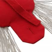 Epauletten silber (ein Paar) mit Fransen silber-rot