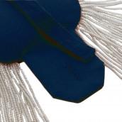 Epauletten silber (ein Paar) mit Fransen silber-blau