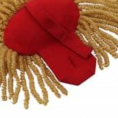 Epauletten gold (ein Paar) mit Raupen gold-rot