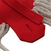 Epauletten silber (ein Paar) mit Raupen silber-rot