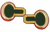 Epauletten grün/rot Jägerepauletten (ein Paar)