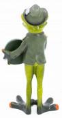Deko Figur Schützenfrosch mit Zielscheibe
