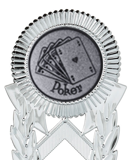 Pokerpokale 3er Serie A286-POK silber 18 cm