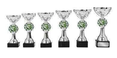 Pokale 6er Serie S136 silber/grün