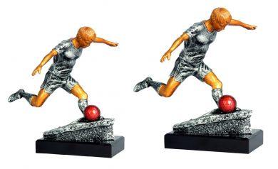 Fußballer Figur 2er Serie TRY-RFST2054 altsilber gold