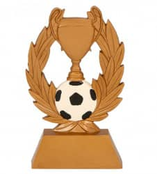 Pokal mit Fußball 3er Serie TRY-RE001 gold