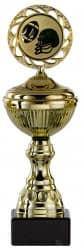 Footballpokale 6er Serie S148-AF gold mit Deckel