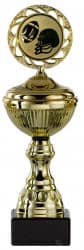 Rugbypokale 6er Serie S148-RUG gold mit Deckel