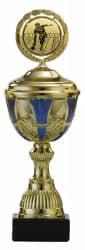 Pokale 6er Serie S494 gold/blau mit Deckel