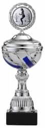 Pokale 6er Serie S499 silber/blau mit Deckel