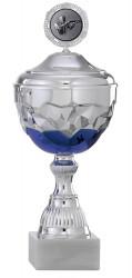 Pokale 12er Serie S745 silber/blau mit Deckel