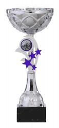 Pokale Serie S748-6er silber-blau 19 cm - 34 cm