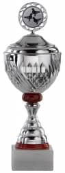 Pokale 3er Serie S750-3erB silber/rot mit Deckel