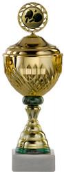 Pokale 12er Serie S754 gold-grün mit Deckel