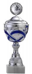 Pokale 12er Serie S763 silber/blau mit Deckel