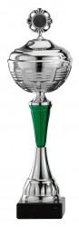 Pokale 6er Serie S473 silber/grün mit Deckel