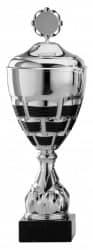 Pokale 6er Serie S870 silber/schwarz mit Deckel