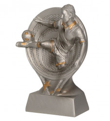 Fußballpokale 4er Serie TRY-RS10 silber gold