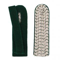 Schulterstücke mit farbigem National silber