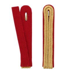 2-streifige Schulterstücke in gold