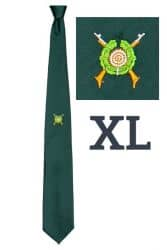 Schützenkrawatte extra lang mit gesticktem Emblem