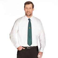 Schützenhemd - Pilotenhemd Langarm weiß