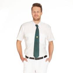 Schützenhemd - Pilotenhemd Kurzarm weiß