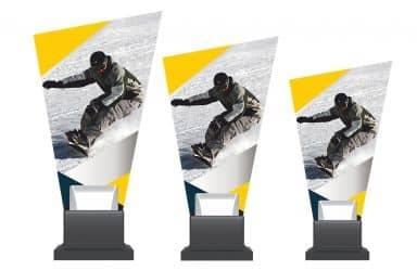 Glastrophäe Alpinen-Snowboarding