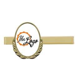 Krawattenklammer mit Auflage oval mit Kranz