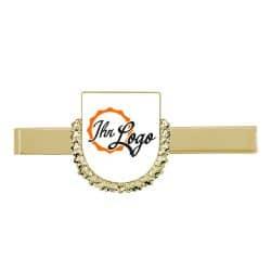 Krawattenklammer mit Wappen mit Kranz