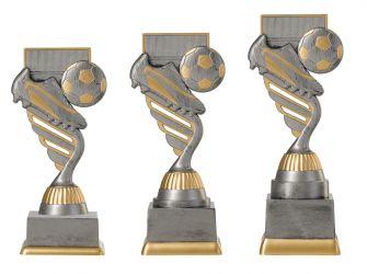 Fußballpokal PF201-M61 altsilber/gold