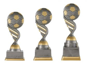 "Fußballpokal ""Ball"" PF227-M61 altsilber/gold"