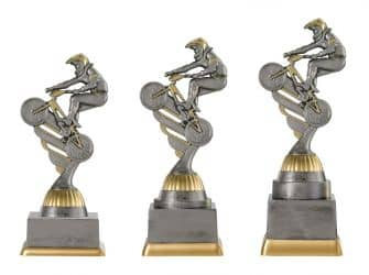 "Radsportpokal ""BMX"" PF235-M61 altsilber/gold"