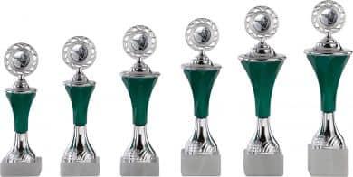 Pokale 6er Serie A294 silber-grün mit Deckel