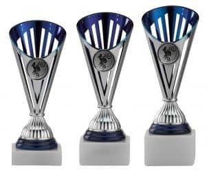 Motocrosspokale 3er Serie A311-MOTO silber/blau