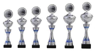 Pokale 6er Serie S157 silber-blau