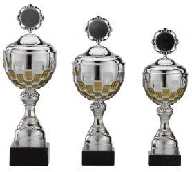 Pokale 3er Serie S757-3erB silber/gold mit Deckel