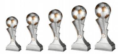 Fußballpokale 5er Serie TRY-RP100 silber gold