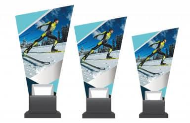 Glastrophäe Skilanglauf