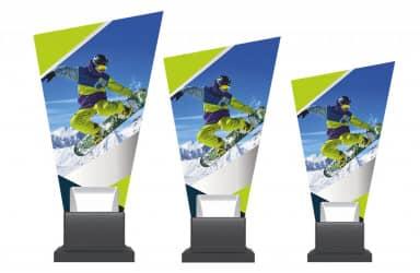 Glastrophäe Snowboard-Freestyle