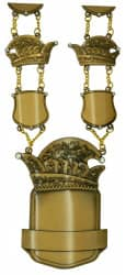 "Prinzenkette ""Leto"" altgold"