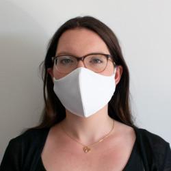 Wiederverwendbare Mund- und Nasenmaske weiß - für Damen & Kinder
