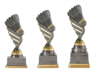 Badmintonpokal PF230-M61 altsilber/gold