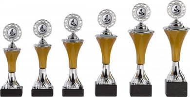 Pokale 6er Serie A295 silber/gold mit Deckel