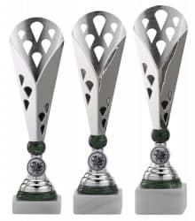 SALE: Pokale 3er Serie A301 silber/grün
