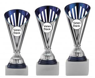 Danke Pokale 3er Serie A311 silber/blau
