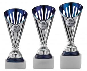 Badmintonpokale 3er Serie A311-AN silber-blau