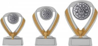 Dartpokale 3er Serie C533-DART silber