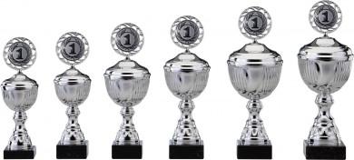 SALE: Pokale 6er Serie S464 silber mit Deckel